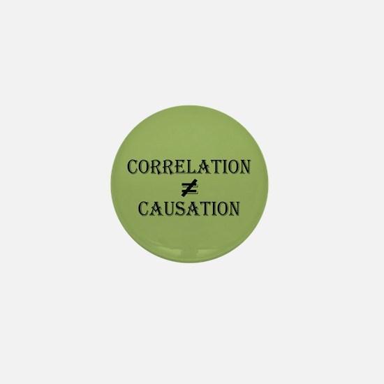 Correlation Causation Mini Button