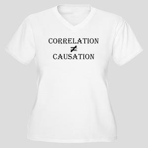 Correlation Causation Women's Plus Size V-Neck T-S
