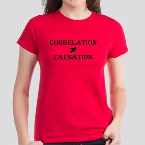 Correlation Causation Women's Dark T-Shirt