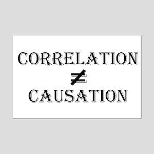 Correlation Causation Mini Poster Print