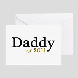 New Daddy 2011 Greeting Card