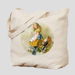 ALICE TIPS OVER THE JURY BOX Tote Bag