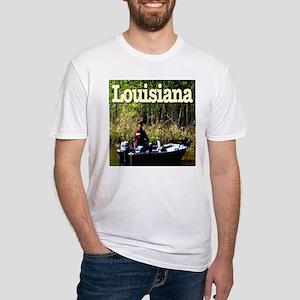 Louisiana Fisherman Fitted T-Shirt