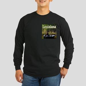 Louisiana Fisherman Long Sleeve Dark T-Shirt