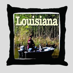 Louisiana Fisherman Throw Pillow