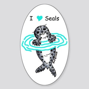 Harbor Seal Sticker (Oval)