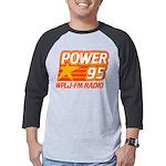 Wplj Power 95 New York 955 Plj Mens Baseball Tee