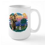St Francis #2/ Schnauzer #1 Large Mug