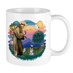 St Francis #2/ Schnauzer #1 Mug