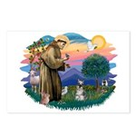 St Francis #2/ Schnauzer #1 Postcards (Package of