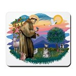St Francis #2/ Schnauzer #1 Mousepad