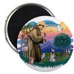 St Francis #2/ Schnauzer #1 2.25