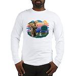 St Francis #2/ Schnauzer #1 Long Sleeve T-Shirt