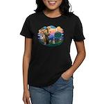 St Francis #2/ Schnauzer #1 Women's Dark T-Shirt
