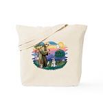 St Francis #2/ Schnauzer #2 Tote Bag