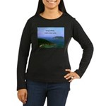 Heaven Women's Long Sleeve Dark T-Shirt