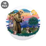 St Francis #2/ Pomeranian (T) 3.5