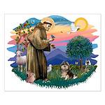 St Francis #2/ Pomeranian (T) Small Poster
