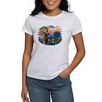 St Francis #2/ Pomeranian (T) Women's T-Shirt