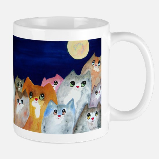 Moon Viewing Cats Mugs