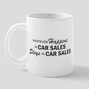 Whatever Happens - Car Sales Mug