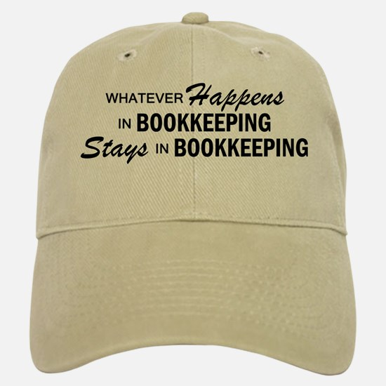 Whatever Happens - Bookkeeping Baseball Baseball Cap
