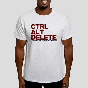 Ctrl Alt Delete geeks Light T-Shirt