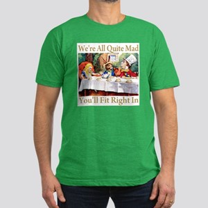 WE'RE ALL QUITE MAD Men's Fitted T-Shirt (dark)