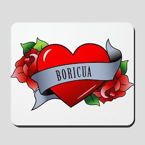 Heart & Rose - Boricua Mousepad