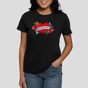 Heart & Rose - Pinay Women's Dark T-Shirt
