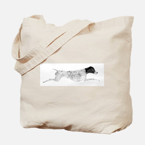 Black & White Leaping GSP Tote Bag