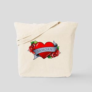 Heart & Rose - Samoan Tote Bag
