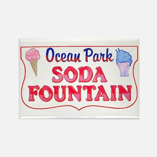 Ocean Park Soda Fountain Rectangle Magnet