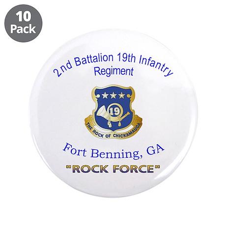 "2nd Bn 19th Inf Reg 3.5"" Button (10 pack)"