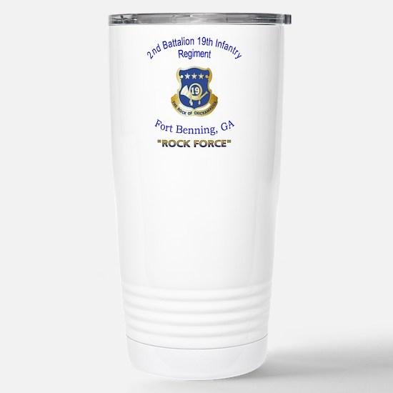 2nd Bn 19th Inf Reg Stainless Steel Travel Mug