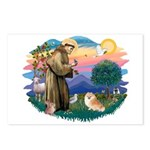 St Francis #2/ Pomeranian (r) Postcards (Package o