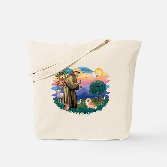 St Francis #2/ Pomeranian (r) Tote Bag