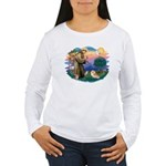 St Francis #2/ Pomeranian (r) Women's Long Sleeve