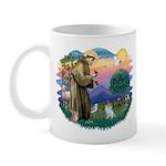 St Francis #2/ Pomeranian (s&w) Mug