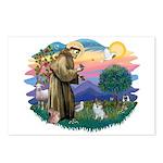 St Francis #2/ Pomeranian (s&w) Postcards (Package