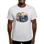 St Francis #2/ Pomeranian (s&w) Light T-Shirt