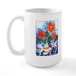 Fish and Flowers Art Large Mug