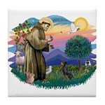 St Francis #2/ Manchester T Tile Coaster