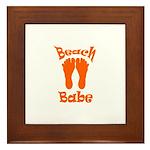 'Beach Babe' Framed Tile