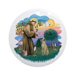 St Francis #2/ Sloughi Ornament (Round)