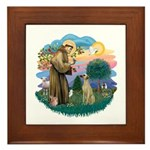 St Francis #2/ Sloughi Framed Tile
