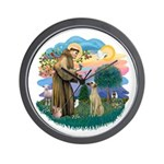 St Francis #2/ Sloughi Wall Clock