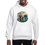 St Francis #2/ Sloughi Hooded Sweatshirt