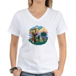 St Francis #2/ Sloughi Women's V-Neck T-Shirt