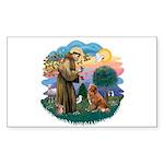 St Francis #2/ Novia Scotia Duck Sticker (Rectangl
